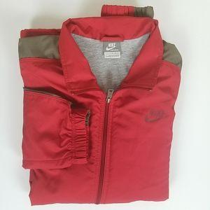 Nike Sportswear Red Grey Full Zip Jacket XL
